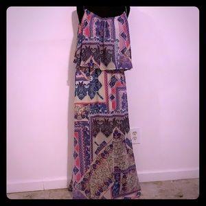 NY Collection Petite Paisley Maxi Dress